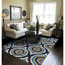 Large Modern Area Rugs Large Rugs For Living Room 8x11 Turquoise Blue Beige