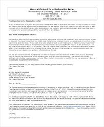 sample resignation letter 8 free documents in word pdf