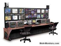 Computer Desk For Multiple Monitors Good Computer Desk For Two Monitors On Wooden Multiple Monitor