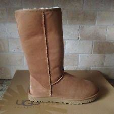 s cold weather boots size 12 ugg sunburst chestnut exposed wool sheepskin cold weather