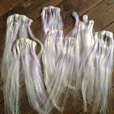 silver hair extensions real human hair extensions 20 bleached toned with a