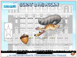 age s scrat to debut as balloon in 2015 macy s thanksgiving