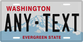 Vanity Plates Washington State Plates Custom Made Plates National Flags Gator Gifts