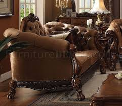 sofa dresden 52095 sofa in brown fabric by acme w options