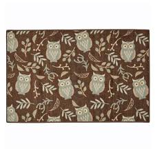 Owl Kitchen Rugs Owl Botanical 30x46 Kitchen Rug Shopko
