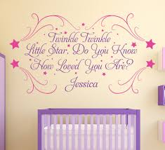 twinkle little star personalised nursery wall sticker