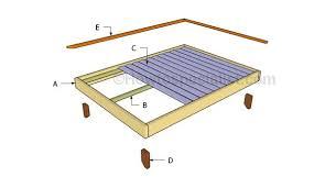 platform bed frame full plans frame decorations