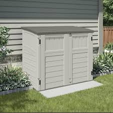 exterior resin suncast storage shed for appealing outdoor storage
