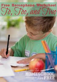 free homophones practice worksheet how to homeschool for free