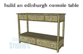 how to build a table with drawers diy console table with drawers loris decoration