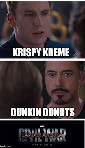 Krispy Kreme Meme - marvel civil war 1 meme imgflip