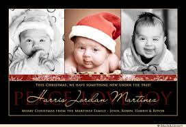 modern photo christmas card black red u0026 gold family starry