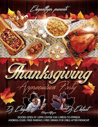 thanksgiving dinner flyer templates happy thanksgiving