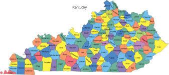 kentucky map kentucky map with counties