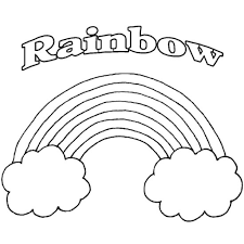 appealing rainbow printable coloring pages good rainbow coloring