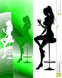 cocktail party silhouette party lounge cocktail stock illustration image of down 500964