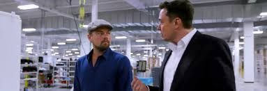 elon musk and leonardo dicaprio discuss climate issues in before