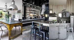 idee deco cuisine vintage cuisine industrielle idées décoration cuisine industrielle