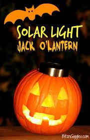 Halloween Costume With Lights by Solar Light Jack O U0027lantern