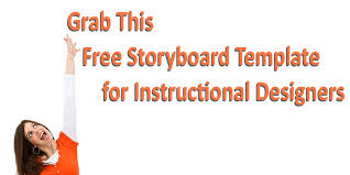 grab this free storyboard template for instructional designers