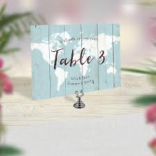 Wedding Table Cards Wedding Table Numbers Travel Theme Wedding World Map Table