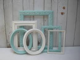 aqua u0026 white painted frames i aqua pinterest painted