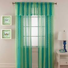 mermaid rod pocket window curtain panel kid u0027s room pinterest