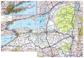 detailed map of new york map of new york state with cities major tourist