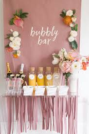 mimosa bar bridal shower brunch with free printables free