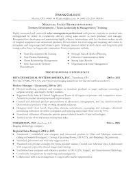 Sample Respiratory Therapy Resume by Sample Resume For Medical Representative Escrow Sales