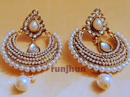 Buy Kundan Embellished Dangler Earrings Buy Smart Kundan And Pearls Polki Danglers Pearl Online 100