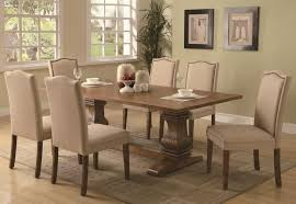 natural wood rustic dining table 6 piece with 4 chairs 1 table 1