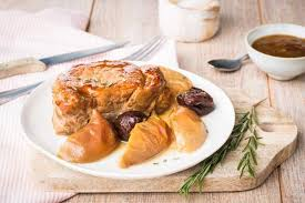cuisiner roti de porc rôti de porc pomme pruneaux cookeo
