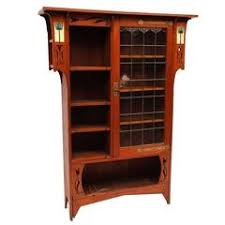 Stickley Bookcase For Sale Antique Arts And Crafts Stickley Mission Oak And Leaded