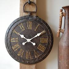 bronze large wall clock