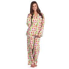 leisureland faith owl s cotton flannel pajama