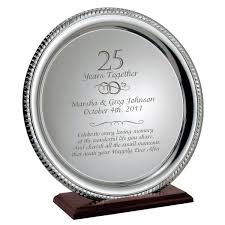 25 year anniversary gift ideas delighful 25 wedding anniversary gift ideas im 8188 johnprice co