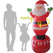 Lighted Santa And Reindeer Outdoor by Amazon Com 8 U0027 Santa Claus With Candy Cane Led Lighted Outdoor Air