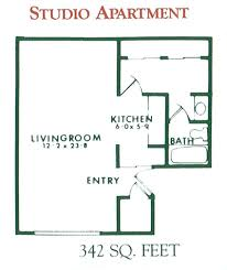 Studio Apartment Floor Plans Studio Apartment Floor Plan For Rent At Willow Pond Apartments In