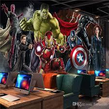 Captain America Bedroom by Avengers Photo Wallpaper Custom 3d Wallpaper For Walls Hulk Iron
