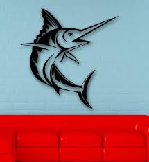 wall decals stickers home decor home furniture diy wall stickers vinyl decal fish ocean marine great room decor ig507