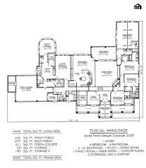 1 Storey Floor Plan by Plan No 4443 0409