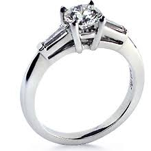 engagement rings with baguettes classic tapered baguette engagement ring ideals