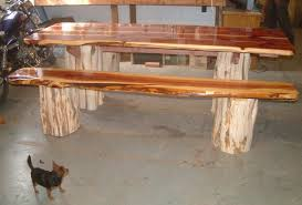 Wooden Picnic Tables With Separate Benches Red Cedar Picnic Table With Separate Benches By