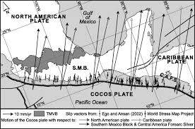 Southern Mexico Map by The Southern Mexico Block Main Boundaries And New Estimation For