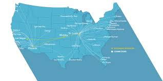 New York Airport Map by New Sw Routes Wichita Dwight D Eisenhower National Airport