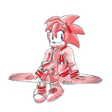 sketch request classic amy rose in varsity jacket by tea bug on