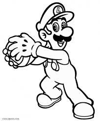 Coloriage Luigi et boule dessin gratuit à imprimer