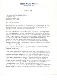 burma partnership letter to us secretary of state clinton letter