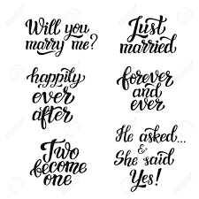 wedding quotes happily after lettering typography wedding set quotes will